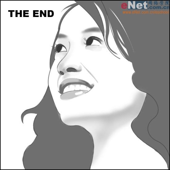 Photoshop快速打造中国美女插画[韩国PhotoS美女仰头后图片