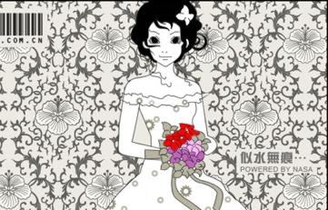 PS绘制穿碎花婚纱的美丽新娘-专题PS影楼后期列表 PS教程 抠图 磨皮