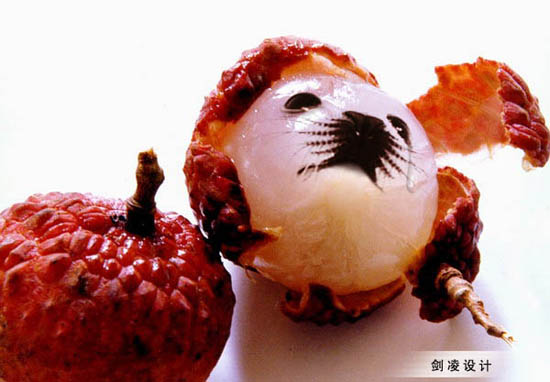 ps创意无限—合成可爱海豹脸水果