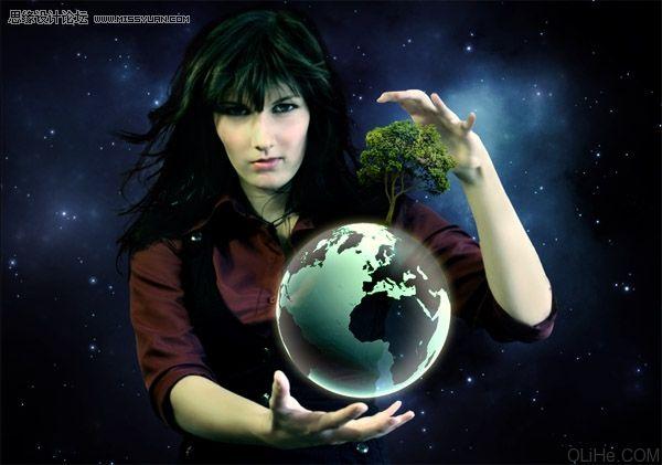 斯特兰奇魔法师我窒息女孩_photoshop合成控制地球的魔法师