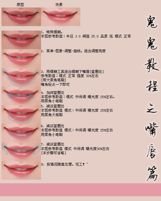 ps人物转手绘之嘴巴的处理方法[中国photoshop资源网