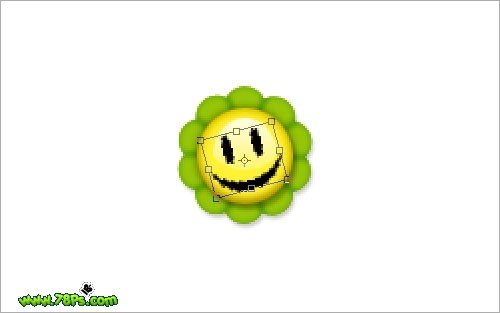 PhotoShop绘制小花照片装饰笑脸[中国PhotoS字体慢些走时光v小花图片