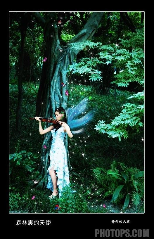 photoshop打造美女里森林精灵[中国photoshop女大胸美女图片