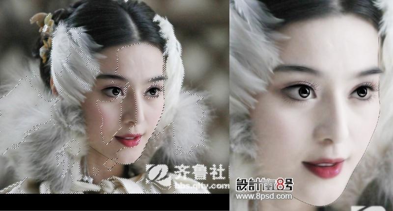 photoshop给范冰冰照片转手绘教程[中国photoshop
