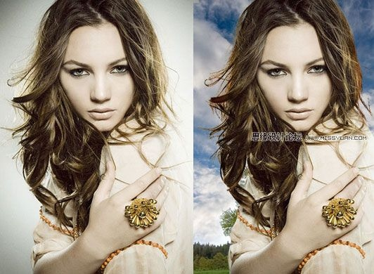 photoshop消除抠图后的头发遗留的白边