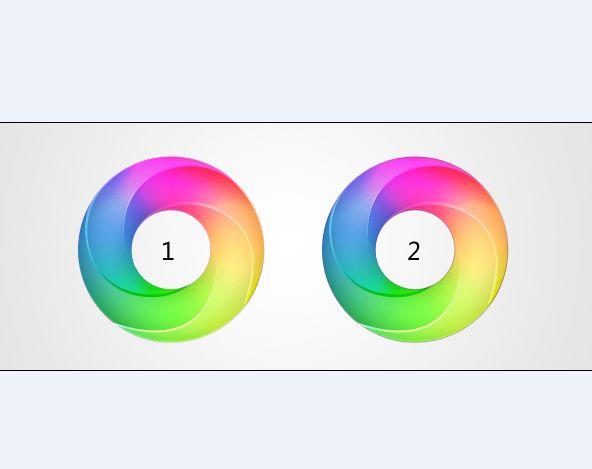 photoshop绘制漂亮的渐变彩色圆环的教程[中国资源网