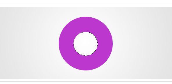 空心圆环矢量图