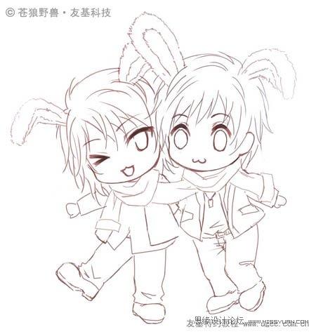 photoshop绘制可爱的q版新年卡通插画[中国photoshop