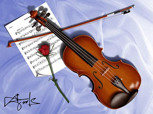 PS鼠绘逼真的小提琴和五线谱的详细教程
