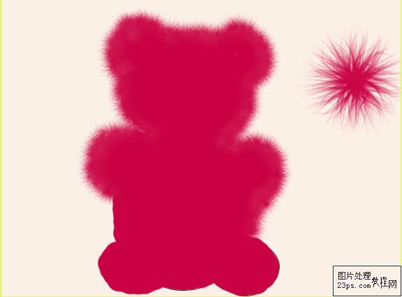 新手练习鼠绘的教程:ps绘制可爱的卡通小熊