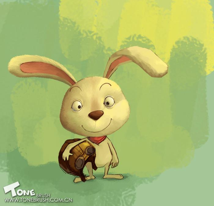 photoshop绘制可爱的卡通小白兔的教程[中国