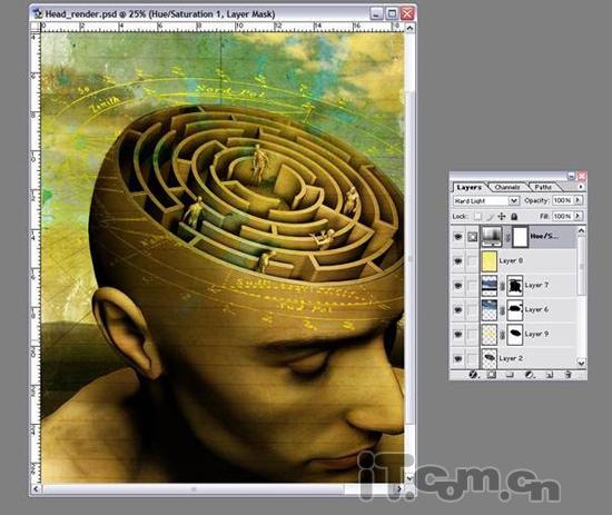 photoshop合成大脑迷宫科技宣传海报教程