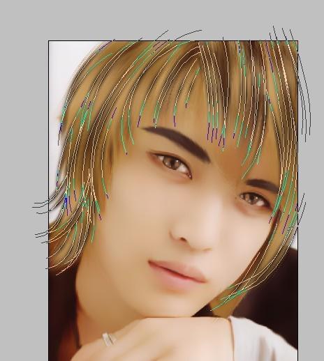 photoshop给帅哥生活照转手绘的详细教程