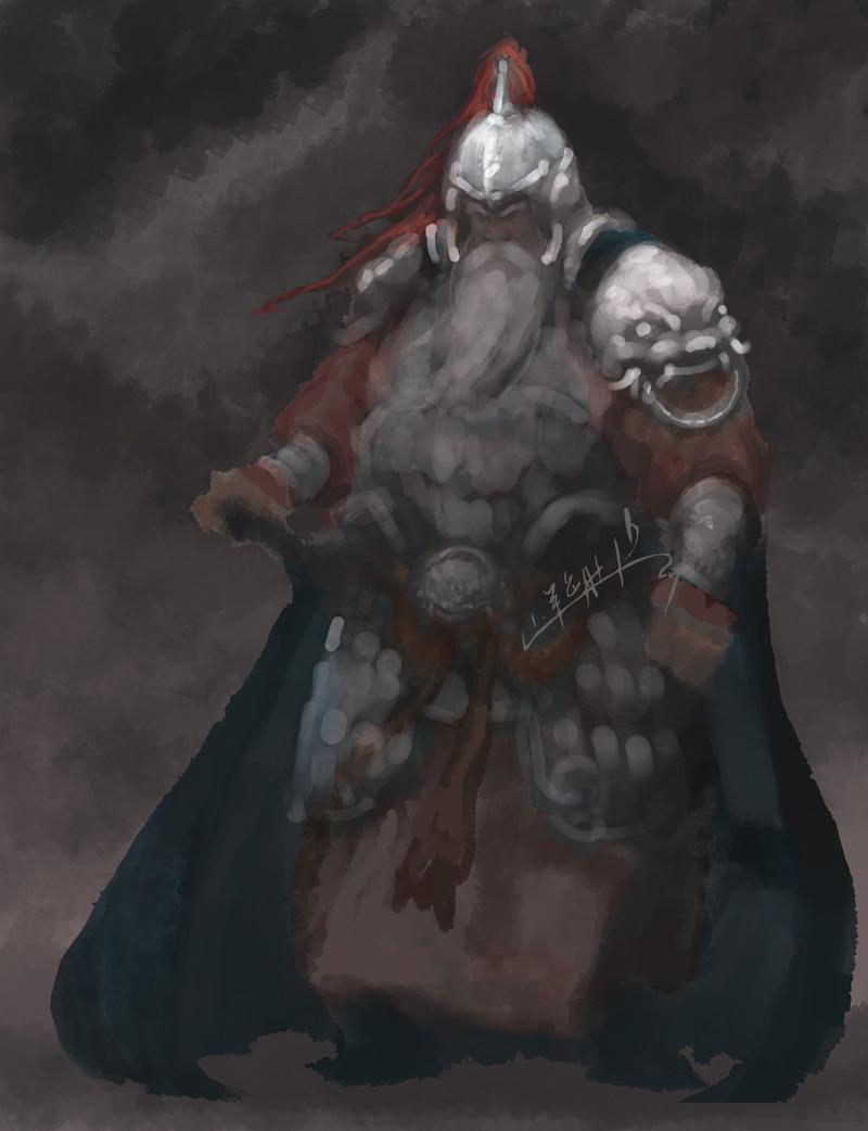 ps绘制逼真的古代战将游戏人物角色的教程