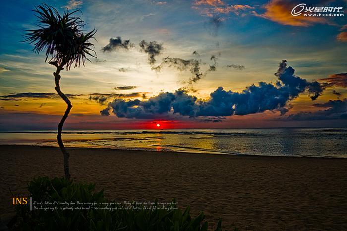 ps+camera raw为夕阳风景照片调出艺术色调