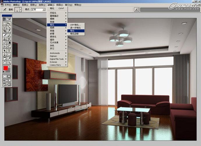 ps修正发灰的室内装修效果图的详细教程