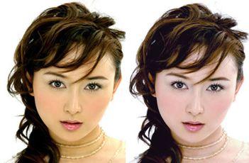 PhotoShop保留肤色质感为美女美白的教程-58篇经典的PS美白人像照