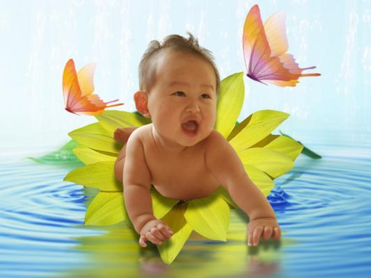 手把手教新手妈妈ps抠图为宝宝照片换背景[中国资源