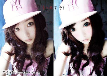 photoshop为美女照片转手绘的简单教程中国