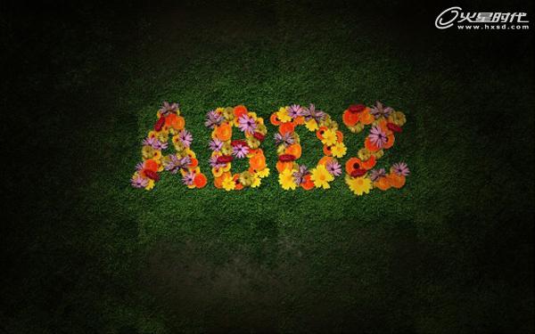 """800)this.style.width=800;"""" border=""""0"""" alt=""""按此在新窗口浏览图片"""" /> 使用4中不同的花朵,让她们渐渐的一个比一个大一点点,让她们看起来想从空中落下来的感觉。花朵图层一个一个叠加放置,每一朵花朵,都是用滤镜模糊径向模糊,数量为10,模式为缩放,质量为最好。这样我们就创造了一个漂亮有深意的田野效果。(图18)"""