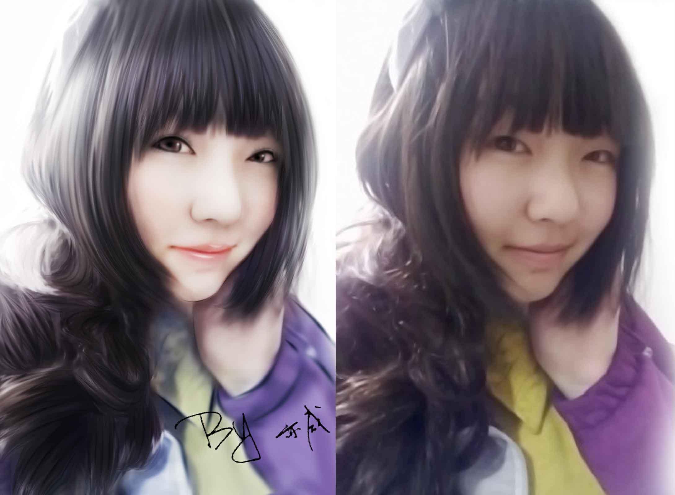 ps为普通美女照片转卡通手绘的详细教程[中国资源网