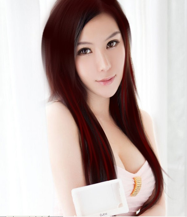 photoshop给美女照片转手绘的简单教程中国