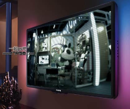 ps自定义图案制作电视扫描线效果的教程