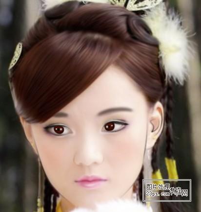 ps给古典美女照片转手绘效果的详细教程[中国资源网