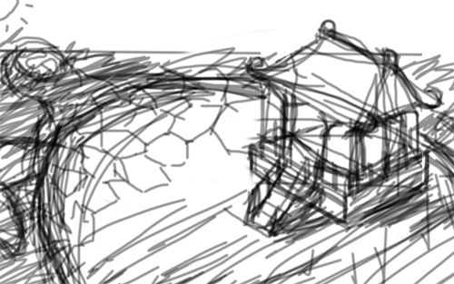 素描房子的简笔画步骤图片