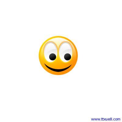 photoshop简单绘制一个微笑qq表情ps教程[中国资源网