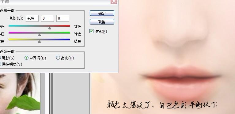 ps美女照片转手绘皮肤 眼睛 鼻子 嘴巴的画法教程