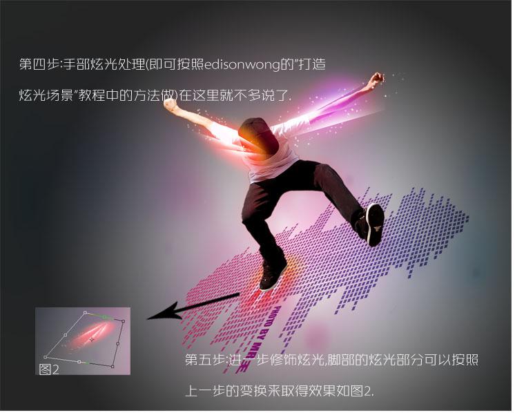 追光者谱子penbeat-标题 PS利用素材简单合成动感音乐炫光舞者海报效果过程
