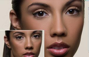 PhotoShop超简单后期保留质感的磨皮方法修图教程 三联教程