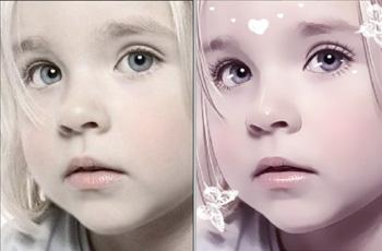 童照片转手绘效果教程