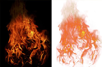 PS使用 通道 快速抠出 火焰 素材的详细教程 中国