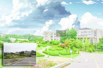 pscc把城市风景照片转为动漫风格电影画面效果