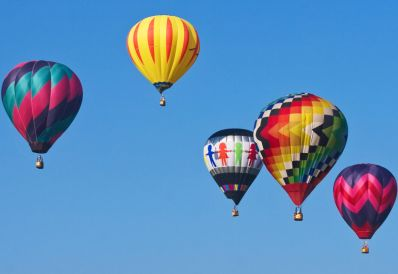 ps素材可爱热气球图片