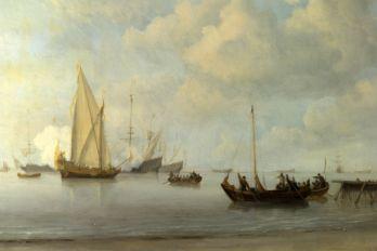 伦敦中世纪帆船油画风景图片素材2(20p)