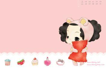 可爱的卡通小女孩图片素材(20p)[中国photoshop资源