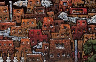 精美的欧洲各地风景油画高清图片素材1(20p)   藏族传统油画图案