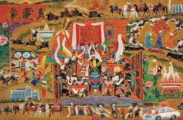 藏族传统油画图案高清图片素材专辑2(20p)