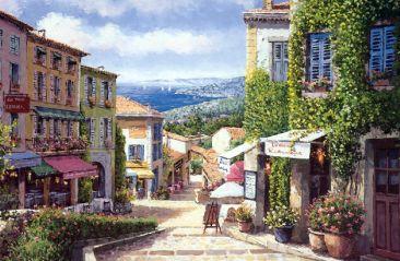 油画风景--ps素材 ps背景 人物 花草 园林 山水 猫猫
