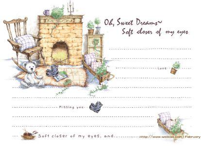 非常可爱的一套卡通信纸背景图片素材(26p)