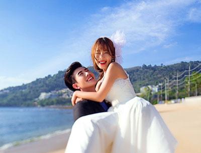 7月最新泰国普吉岛外拍高清婚纱样片全套80p专辑三
