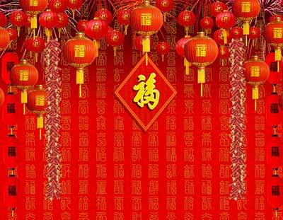 中国古典风格全家福背景图片素材大全73p