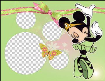 儿童模板.米老鼠系列边框06.psd