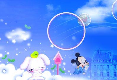 卡通迪斯尼的米老鼠与唐老鸭背景米奇主题儿童模板