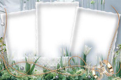 白色梦幻照边框模板psd分层素材下载