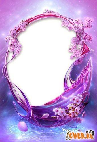 紫色梦幻星座照片边框素材psd模板下载