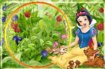 儿童模板.白雪公主与梅花鹿可爱的儿童照片模板.PSD  -儿童模板分类